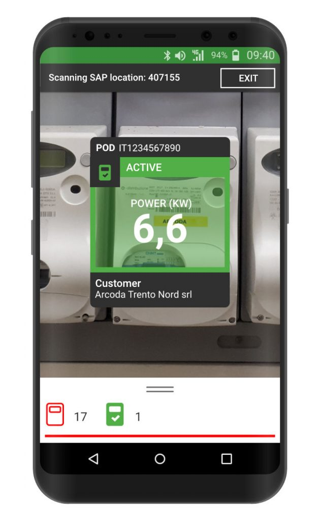 Inventorying meters with smartphone - Scanning